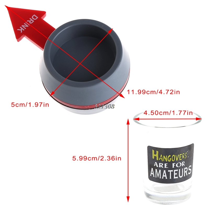 Spin the Shot Drinking Game Turntable