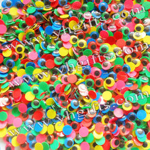 5000PCS/LOT.8mm colorful eyeball,Wiggle eyes,DIY accessories,Doll eyes.Craft material,Handmade toys.Wholesale.Freeshipping