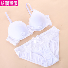 Buy ARTDEWRED New Women Lace Underwear Push Side Support Plunge Bra Panty Set Lingerie Plus Size Bras Briefs Sets 90-110 CDE