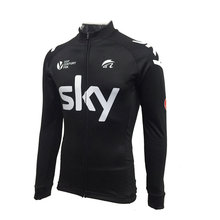 2017 New fabric winter cycling clothing sky team cui maillot ciclismo invierno ropa ciclismo hombre Black sweater mtb bike(China)