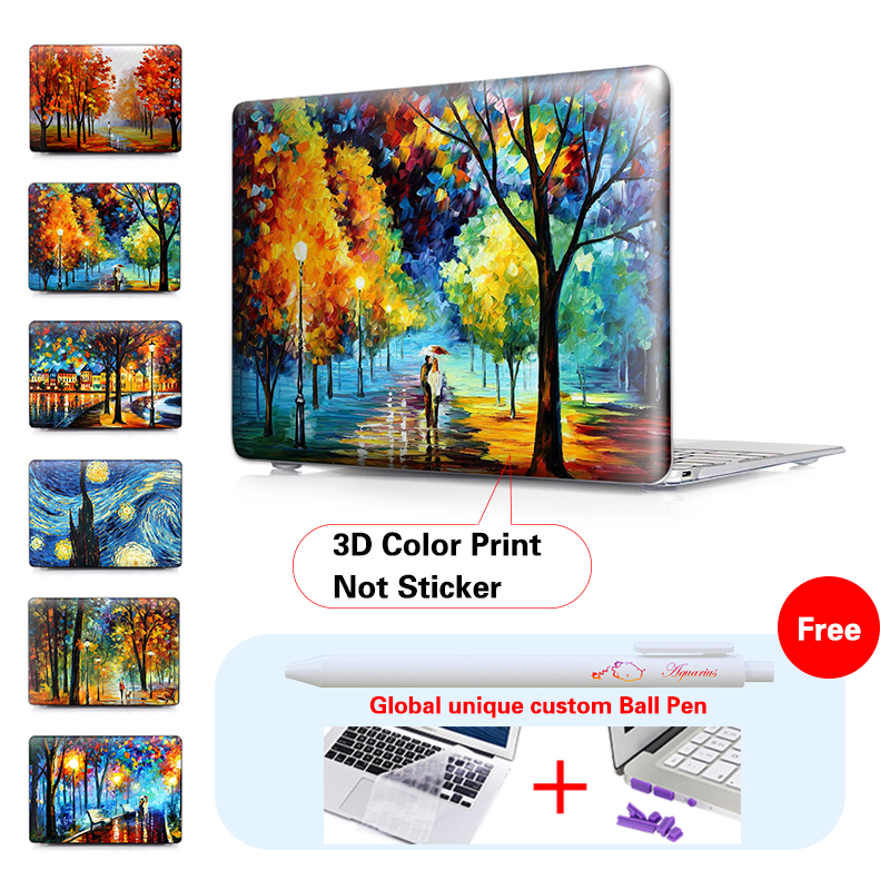 RAINS RUSTLE Painting Crystal Notebook Laptop Bag Case For Macbook Air 13 Case Pro Retina 12 13 15 New Air 11.6 12 13.3 Inch<br><br>Aliexpress