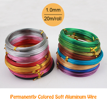 1.0mm 18 gauge 20m/piece multi colors anadized aluminum wire coil soft DIY jewelry craft versatile painted aluminium metal wire