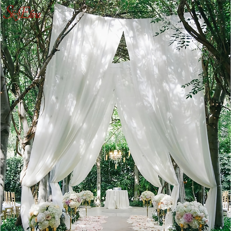 FENGRISE-10X1-35-m-Bruid-Party-Decoratie-Roze-Organza-Tule-Stof-Sheer-Swag-Achtergrond-Gordijn-Bruiloft (1)