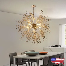 US shipping! Modern Dandelion LED Chandelier Fireworks Pendant Lamp Lights for Restaurant Dinning Room Coffee Bar(China)