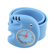 Digital Slap Watch Cute Cartoo Slap Watches for Kids Blue Flap ring LL(China)