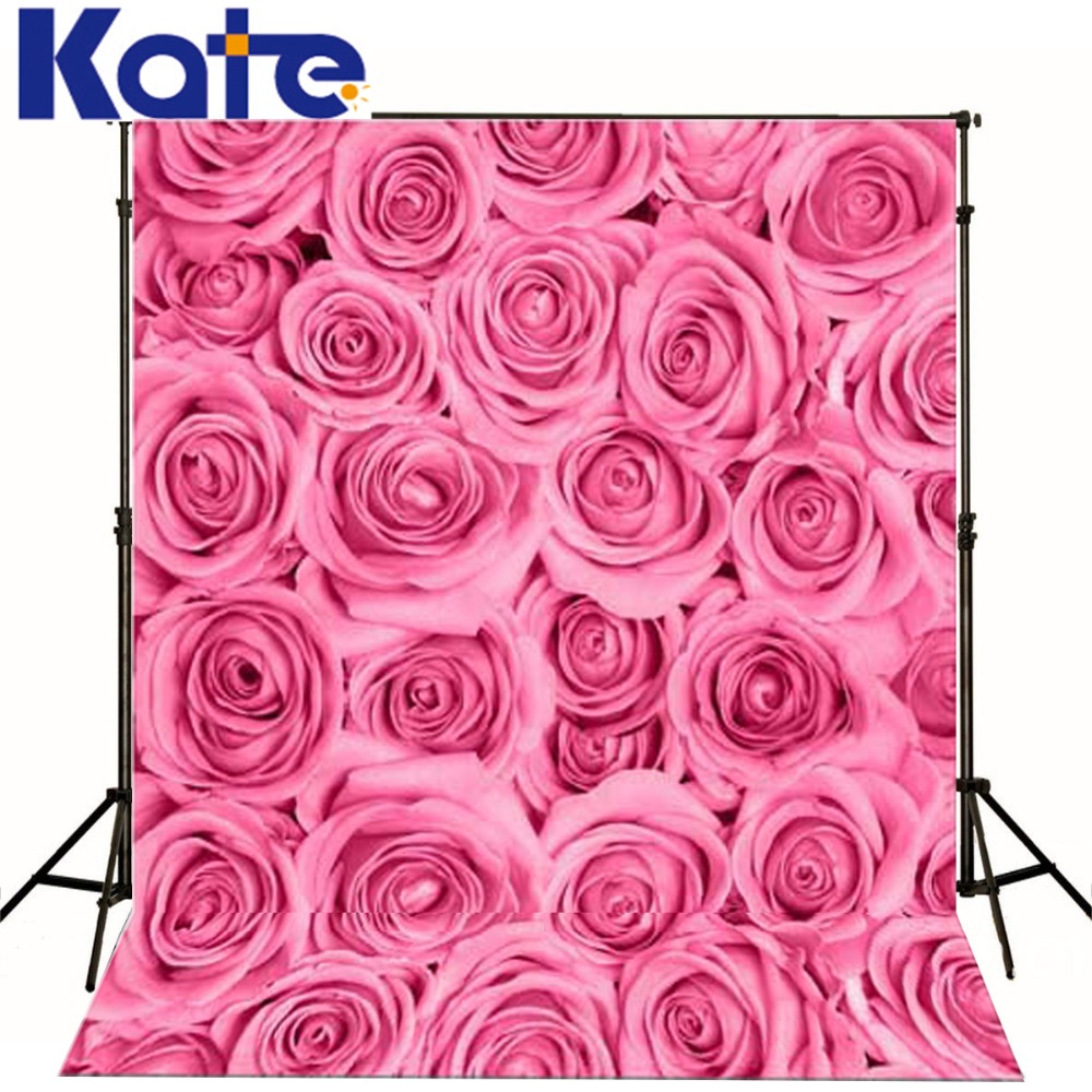 Kate  Digital Printing Photo Studio Backdrop Retro Pink Rose Flowers For Newborn Child Photography Background<br>