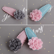 1 PCS Fashion Cute Dimensional Flowers Baby Hairpins Girls Hair Accessories Children Headwear Princess Barrette kids Hair Clips