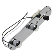 NEW chrome prewired Control Plate 3Way Switch for Fender Tele Guitar replacement