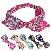 1PC Floral HCasual Rabbit Head Hair Band diademas para mujer Headband multifunctional stylish headwear women(China)