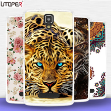 Coque For Lenovo A1000 case Soft Silicone TPU Cover Animal lion tiger girl Cases For Lenovo A 1000 Case DIY telePhone case Cover(China)