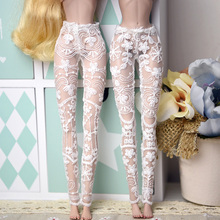CXZYKING Fashion Doll Accesssories Handmade White Mesh Stocking Lace Bottoms Trousers Pants Legging For Barbie Doll Clothes
