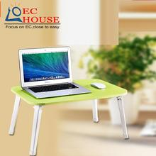 With a simple lazy wood folding outdoor table notebook comter desk on bed for children FREE SHIPPING
