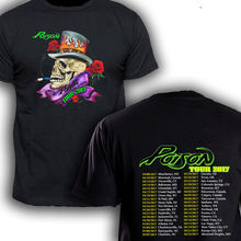 THE POISON WITH DEF LEPPARD tour dates 2017 T-Shirt Men and Women Tee Big Size S-XXXL