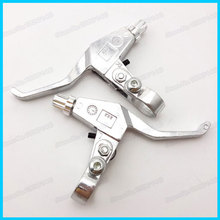 Silver Right and Left Brake Levers For 43cc 47cc 49cc Gas Scooter Mini Motor Pocket Pit Dirt Bike ATV Quad