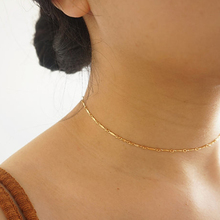 chunying Gold Choker Necklace, Layering Choker, Gold Filled Chain, Minimalist handmade chunying XL507(China)