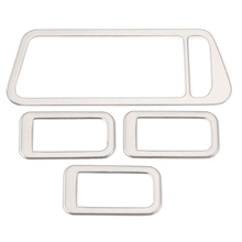 4pcs/set Car Interior Stainless Steel Armrest Decoration Trim Cover For Volkswagen VW Golf 7 VII MK7 2013 2014 Auto Accessories