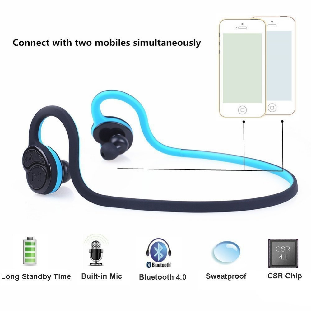 HV-600 Wireless Stereo Bluetooth Earphone Sweatproof Sports Headphone with Microphone for iPhone 6 7 Samsung Huawei Xiaomi V4.1<br><br>Aliexpress