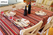 Mediterranean Bohemia table cloth Linen Lace tablecloth Coffee table cloth free shipping
