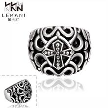 Hot sale high quality personality skull rings Europe and America classic ancient stainless steel ring(China)