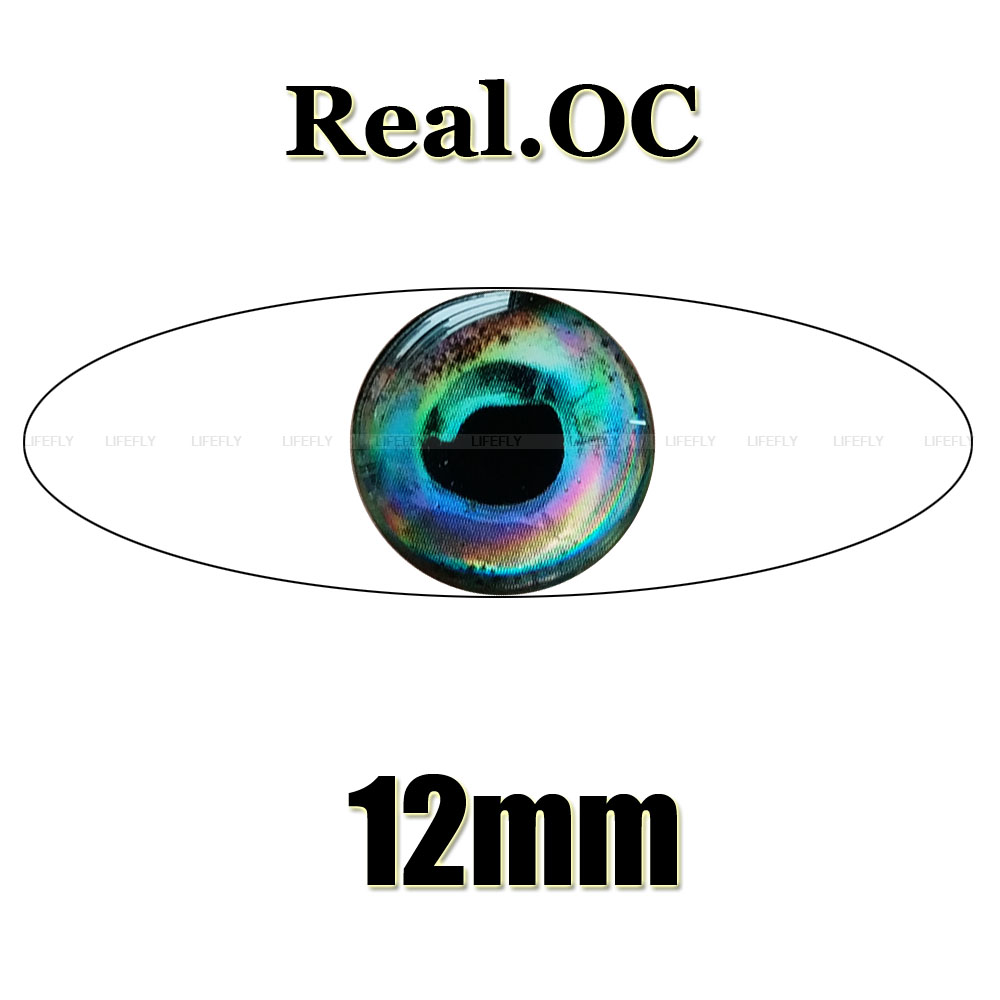 8mm Red // Wholesale 1100 Soft Molded 3D Holographic Fish Eyes Lure Jig Fly