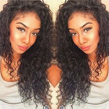 8A Pre Plucked 360 Lace Frontal Closure Deep Wave Curly Peruvian Virgin Hair Natural Hairline 360 Lace Frontal With Baby Hair
