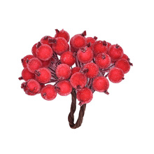 40 Heads Mini Christmas Frosted Fruit Berry Holly Artificial Decorative Flower DIY Home Christmas Decoration