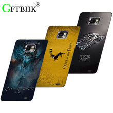Cute Cartoon Case For Samsung Galaxy S2 SII GT I9100 i9105 Hard Plastic Case Fashion Printed Football Cover Game of Thrones 7