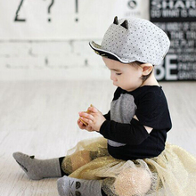 Moeble Spring Autumn Lovely Cat Baby Hats Child Bebe Baseball Caps Kids New Fashion Cap for Infant Baby 4-6 Months 1pc H776