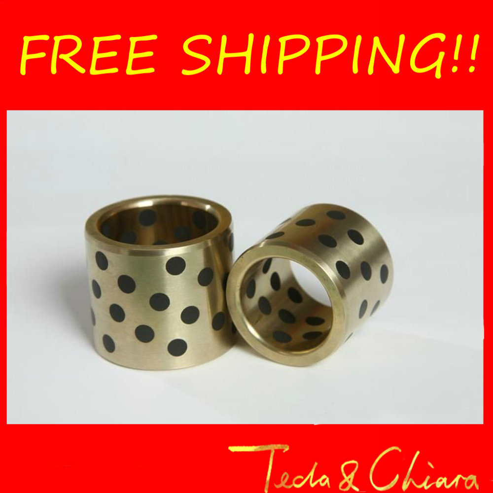 2Pcs JDB JDB304030 304030 30 x 40 x 30mm Graphite Lubricating Brass Bearing Bushing Sleeve Oilless Free shipping High Quality<br><br>Aliexpress