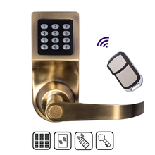 Free Shipping!  New Zinc Alloy Lock with Remote Control RFID Card unlock  Electronic Smart Access Keyless Digital Code Door Lock