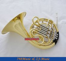 Professional Double French Horn F/Bb Key Gold Cupronicekl Tuning Pipe with Case