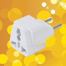 White Universal UK/US/EU/AU to Brazil Brasil Israel and EU EUROPE Russia Travel Power Converter Adapter Adaptor wall Plug