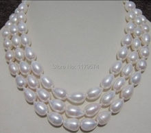 "new 8-9MM WHITE AAA+ SOUTH SEA free BAROQUE PEARL NECKLACE 60 ""beads jewelry making AAA YS0321"