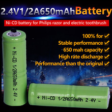 1pcs/lot 2.4v 1/2A 650mah razor battery ni-cd electric toothbrush razor recharge battery Free shipping!(China)