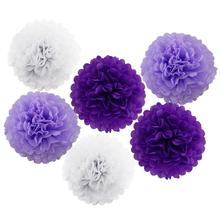 Wedding Decoration 6pcs Tissue Paper Pom Wedding Party Decor Flowers Balls For Wedding Party Supplies(China)