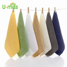U-miss Hand Towel Bamboo Baby Towel 35x35cm Face Towels Baby Care Wash Cloth Kids Hand Towel For Newborn