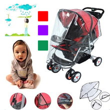 Baby Stroller Waterproof Cover PE Universal Wind Dust Shield Pushchair Cover Pushchairs Stroller Accessories(China)