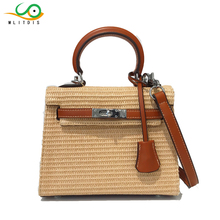 MLITDIS Women Handbags Rattan Straw Beach Bag Tote High Quality Girls Portable Handbag Vintage Casual Designer Bolsos Mujer De(China)