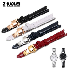 12mm black white red Navy blue Leather strap 1853 watch T094 Ferramengo female strap t094.210A belt(China)