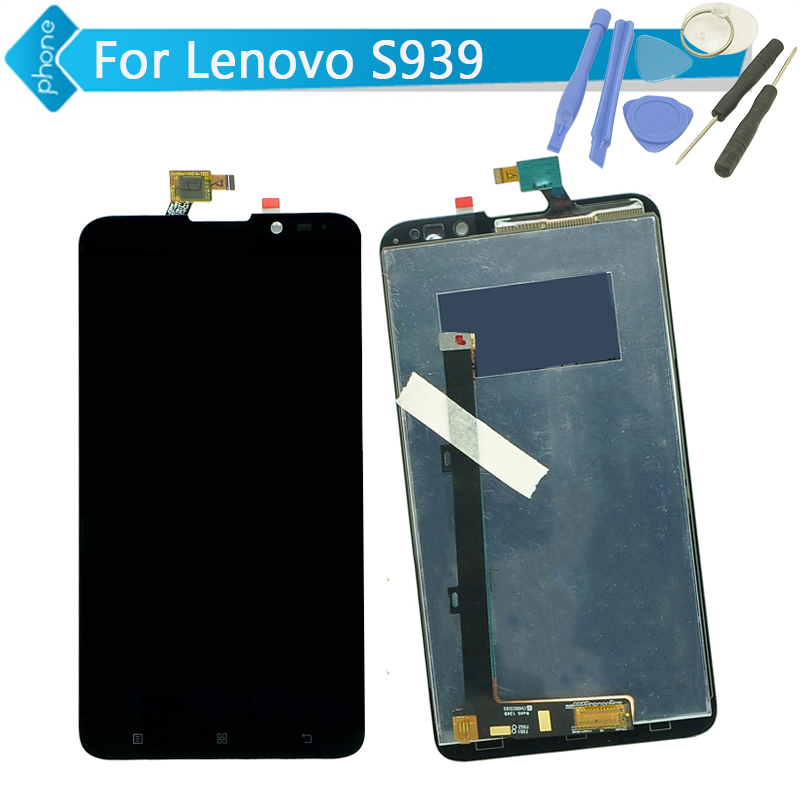 For Lenovo S939 LCD Display With Touch Screen Digitizer Assembly Black + Tools Free Shipping<br><br>Aliexpress