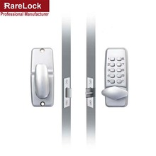 LHX Waterproof Mechanical Satin Chrome Locks Push Button Keyless Digital Numeral Deadbolt Coded Door Flat Office Lock a