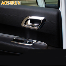 AOSRRUN Car accessories ABS Chrome Trim interior handle cover decoration For Peugeot 3008 2012 2013 2014 2015(China)