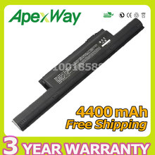 Apexway 4400mAh Laptop Battery E500-3S4400-B1B1 For HASEE K500A K500B-i7 D1 for ADVENT NIWILL