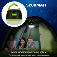 Rechargeable Camping Lanterns 5200mAh Battery Power Bank Portable Work Light With Magnet 200lms Camping Light IP65 Waterproof