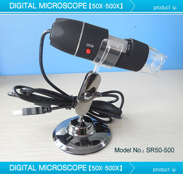 50X-500X Pocket Digital USB Microscope 130 Pixel USB DIGITAL Microscope 2.0MP Endoscope Magnifier Camera With 8 LED<br><br>Aliexpress