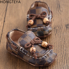 Hongteya Lace Up Loafer Handsome Soft Baby Shoes Newborn Boy Girl Causal Soft Soled Crib Shoes Toddler Pre walker Footwear