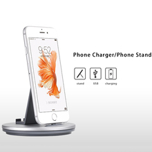 Newest 2 in 1 phone charger Mobile Phone Stand Holder For iPhone 5 5s se 7 6 6s Plus Samsung Tablet PC Base android/IOS charging