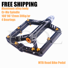 Bicycle 4 Bearings Pedals Aluminum Alloy Bike Pedal Ultra-thin Design MTB Pedal