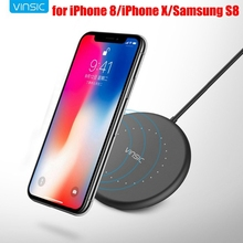 Vinsic Qi Wireless Charger 5V 1A Pad iPhone X 8 8 Plus Samsung Galaxy S8 S6 S7 Edge Google Nexus Lumia 920 Wireless Charger