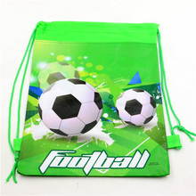 34pcs Birthday Party Decoration Football Sport Backpack Baby Shower Soccer Non-Woven Fabric Drawstring Bags Kids Favors Supplies(China)